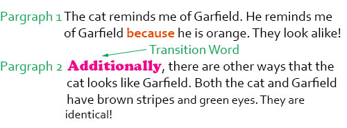 Can there be two transitions in a paragraph?